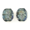 Lamp Bead Rugged Flat Coin 2Pc 22x19mm Tranquil Water